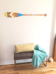 painted paddle painted oar i can never tell what s what oh well not really important when we re talking about wall decor i guess