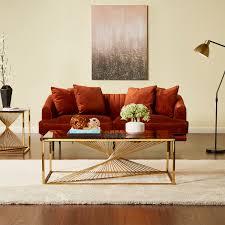 alfie rectangular coffee table gold