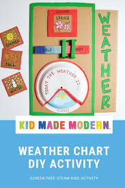 Rainy Day Chart Diy Weather Chart Craft Projects For Kids Creative