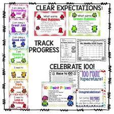 Class Dojo Clip Chart Behavior Trackers Class Dojo