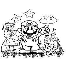 Kleurplaten Super Mario