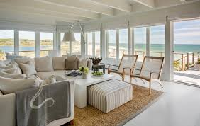 Exceptional Futon Slipcover In Living Room Beach Style With Deck Floor Next To Photo