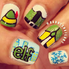 Christmas Nail Art Ideas   StyleCaster