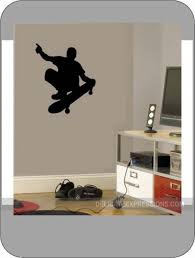 skateboard vinyl wall decal boys sports athletic boys bedroom wall decal skateboard silhouette skateboard wall decals boys bedroom decal