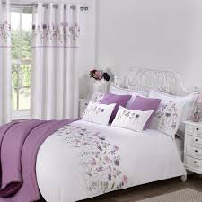 ... Bed Linen, Purple Curtains And Matching Bedding Bedding Sets With Matching  Curtains Sale Imogen White ...