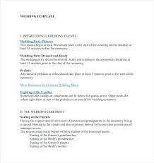 Wedding Ceremony Templates Free Wedding Ceremony Template Free Document Download Program
