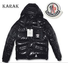 Karak jackets down mens detachable Moncler cap black No.1831