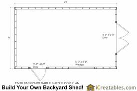 shed floor plans. 12x20 Backyard Storage Shed Floor Plan Plans 0