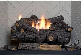 emberglow savannah oak 24 in vent free natural gas fireplace logs with remote
