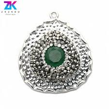 5pcs 28 31mm lucky jewelry making pendants for diy jewelry findings brass micro pave
