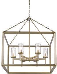 golden lighting 2073 6 wg clr smyth modern white gold chandelier light loading zoom
