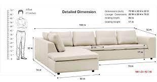l shape sofa measurements