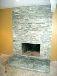 reface brick fireplace with stone fireplace surround