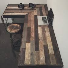 rustic office desk. Teds Wood Working - Rustic L-Shaped Desk Made From Reclaimed By Crtcreative Get A Lifetime Of Project Ideas \u0026 Inspiration! Office