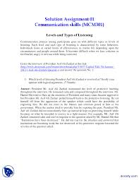 levels and types of listening part mass communication assignment the document