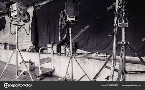 Professional Film Lighting Equipment Light Set Professional Lighting Equipment Stock Photo