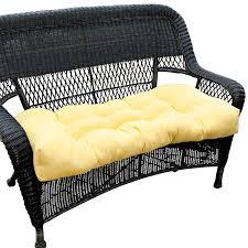 Sunbeam 42 Wide Yellow Outdoor Settee Cushion