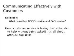 Definition Of Good Customer Services