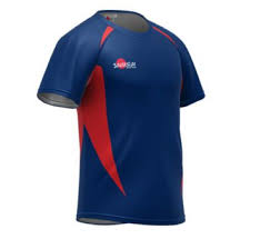 rugby shirt style d navy red