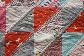 a quilt is nice: straight line quilting & I often use a seam as my guide when sewing straight lines. In my pips quilt,  I used the diamond pattern as my guide. I sewed a very generous 1/4 inch  away ... Adamdwight.com