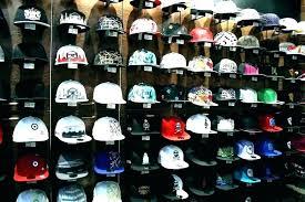 ball cap organizer wooden rack closet