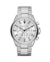 michael kors men s silver tone gage chronograph watch 45mm michael kors men s silver tone gage chronograph watch 45mm bloomingdale s