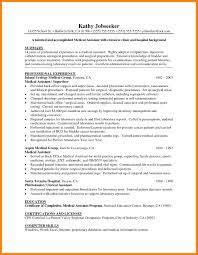 Resume Cover Letter For Medical Assistant 60 objectives for medical assistant resume free ride cycles 45