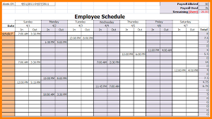 work scheduler excel 11 excel employee schedule template monthly ledger paper