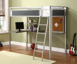 Bedroom: Cheap Metal Bunk Bed With Desk Underneath And Stairs Photo - Full  Size Bunk