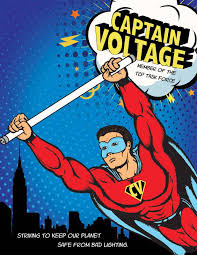 Comic book lighting Creepy Captain Voltage Comic Book Tcp Lighting Captain Voltage Comic Book Tcp Lighting