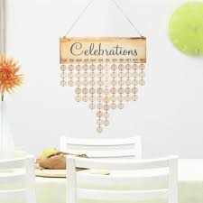 diy wooden birthday calendar board family friends special dates sign