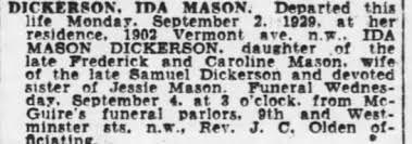 Obituary for IDA MABON DICKERSON - Newspapers.com
