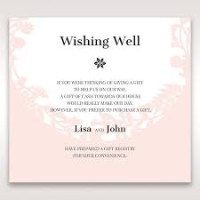 wedding invitation wording for cash gifts lovely wedding invitation wording wishing well