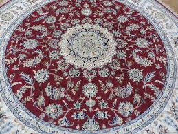 7 9x7 9 round hand knotted red persian fine nain with