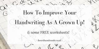 How to improve your handwriting as a grown up! & Free Sheets ...