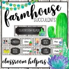Farmhouse Succulents Job Chart Materials