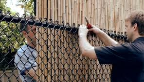 Beautify An Ugly Chain Link Fence with a Natural Bamboo Fence Roll