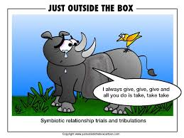 symbiotic relationships symbiotic archives just outside the box cartoon