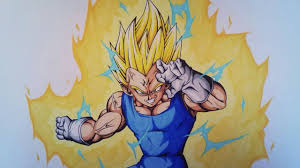 Drawing Majin Vegeta Ssj 2 Dragonball Z Tolgart Youtube