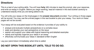 """the complete act instructions expert guide and tips the basics are as follows """"you will have forty 40 minutes to the prompt plan your response and write an essay in english"""