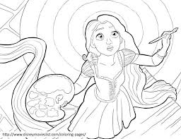 Small Picture Disney Coloring Pages Tangled Rapunzel Coloring Pages