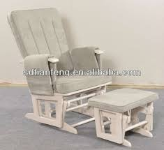 plush rocking chair. Plain Plush Modern Plush Sleigh Glider Rocking Chair With Ottoman In Grey Color And A