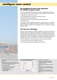Intelligent Crane Control The Data Bus Technology