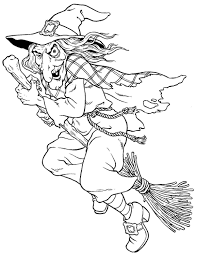 Witches Colouring Pages Free Halloween Witch Colouring Pages For
