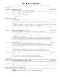 Resume Samples For College Students With No Experience College ...