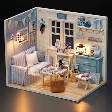 Aliexpress Buy Doll House Diy Miniatura Wooden Dollhouses