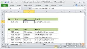 Vowel Chart Template Xlsx Excel Formula Get Employee Information With Vlookup Exceljet