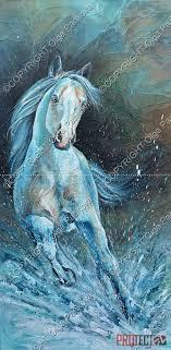 rocky horse art painting