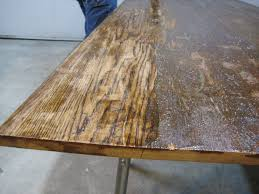 refinishing wood table top