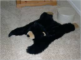 faux bear skin rug post with fake cute g head fur nner white target large for faux bear skin rug